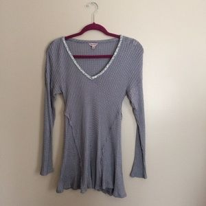 Juicy Couture Grey Dressy V-Neck Long Sleeve
